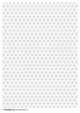 printable graph paper triangle triangle grid paper teaching ideas