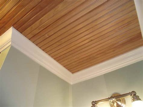 Hanging Wood Planks On Ceiling