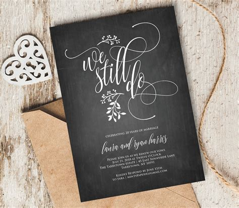 We Still Do Vow Renewal Invitation Template Instant Download Vow Renewal Invitations Templates