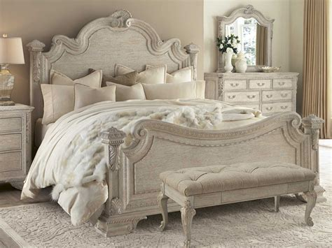 a r t furniture renaissance estate panel bedroom set