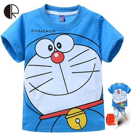 Sweater Doraemon 2015 summer t shirt doraemon clothing boys children t shirt 100 cotton