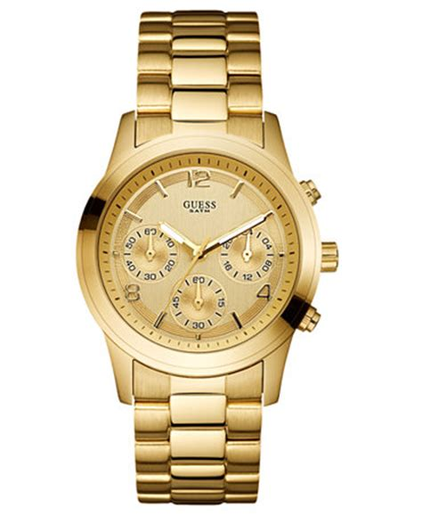 guess s chronograph gold tone stainless steel