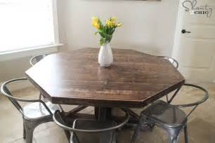 Target Round Dining Table Diy Round Wooden Table For 110 Shanty 2 Chic