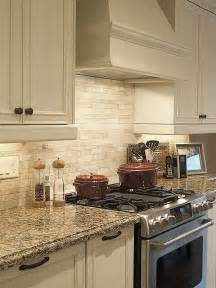photos of kitchen backsplashes light ivory travertine kitchen subway backsplash tile