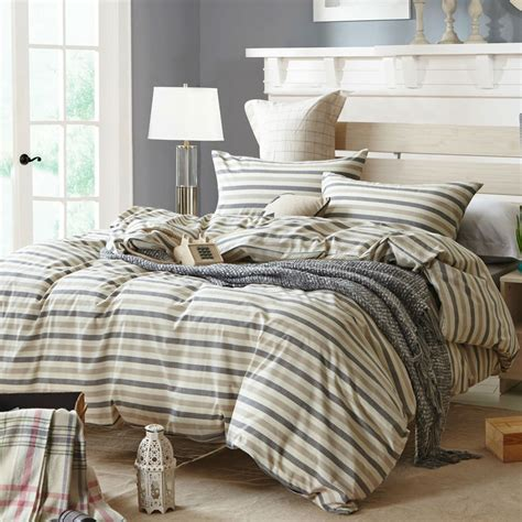 popular gray stripe comforter buy cheap gray stripe