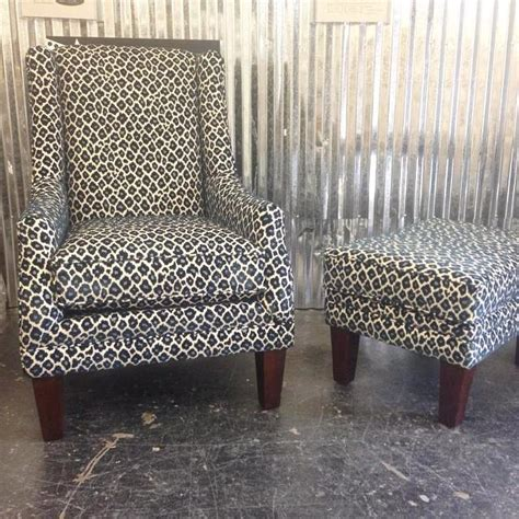 print chair and ottoman navy leopard print chair ottoman richmond by u fab