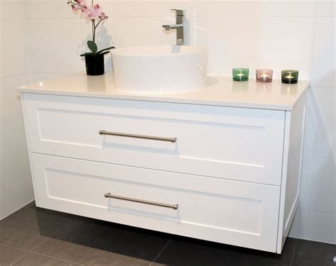 1200 lucca wall hung vanity in shaker style panel with