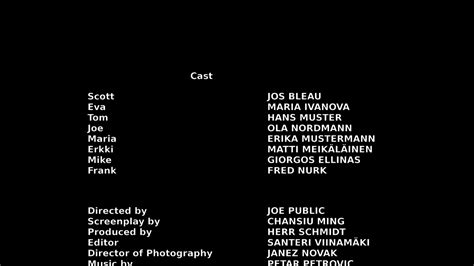 Credit Roll Template Closing Credits
