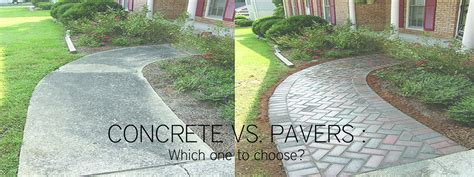Pavers Vs Concrete Patio Concrete Vs Pavers Patio Concrete Vs Pavers Which One To Choose Compare Pavers Vs Concrete