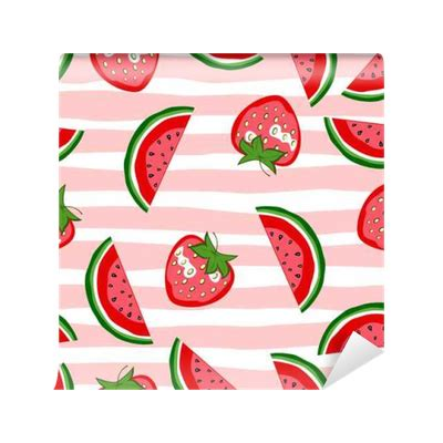 fruit pattern png watermelon and strawberry seamless pattern summer texture