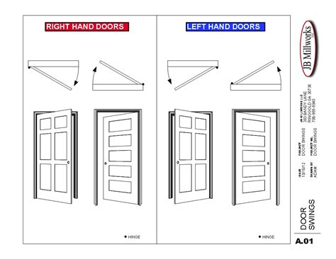 interior door swing direction door swing chart jb millworks milling casings crown