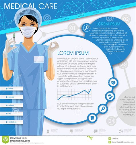 eps format web medical care template stock vector image 61842101