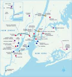 Map Of New York And New Jersey by Port Of Brooklyn Ny Profile