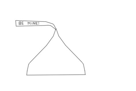 large hershey kiss template just b cause