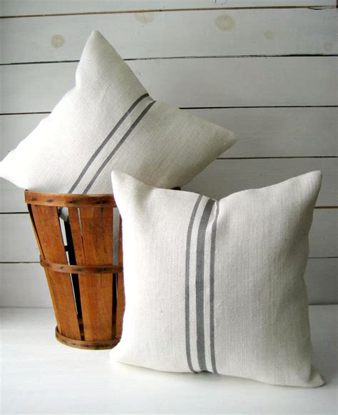 burlap couch grainsack throw burlap pillow cover cottage chic pillow