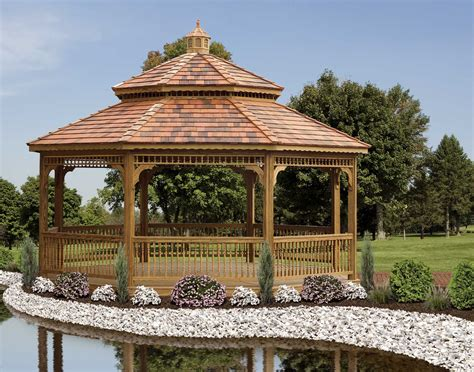 gazebo roof treated pine roof octagon gazebos gazebos by