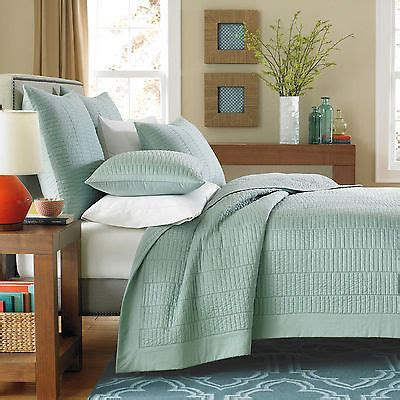 Simple Bedspreads Real Simple Dune King Size Coverlet Quilt Sea Glass Modern