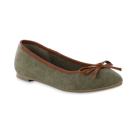 sears flat shoes basic editions s green ballet flat shoes