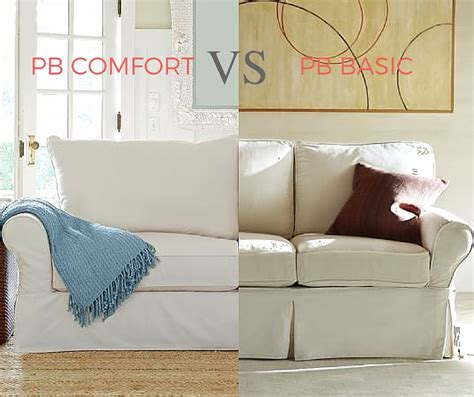 pottery barn pb comfort reviews pottery barn pb basic vs pb comfort small differences