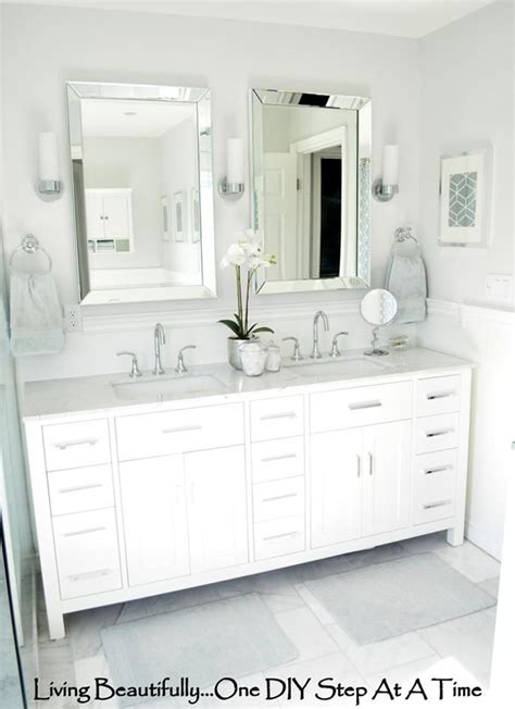 master bathroom mirror ideas master bath tile http livingbeautifullydiy blogspot
