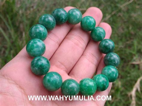 Gelang Batu Giok Hijau gelang batu giok jade asli kode 487 wahyu mulia