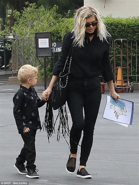 Fergie And Church Do It Right fergie and josh duhamel take axl three to church