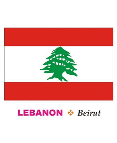how to draw lebanon flag