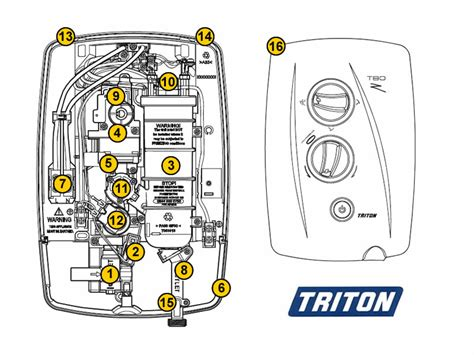 triton t80z fast fit shower spares and parts triton t80z