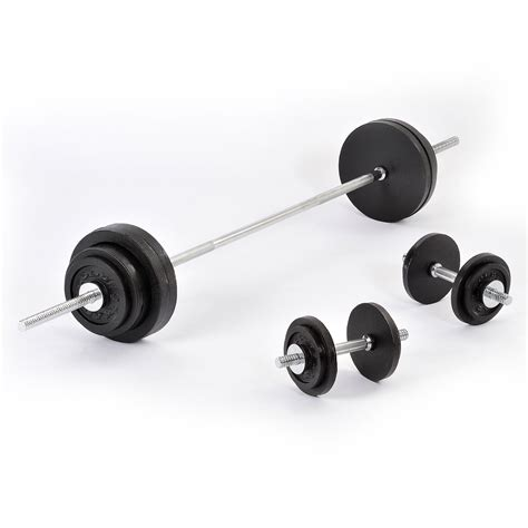 Barbell Dumbell Golds 90kg Cast Iron Barbell And Dumbbell Weight Set