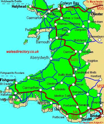 printable road map of wales uk road maps of wales great britain
