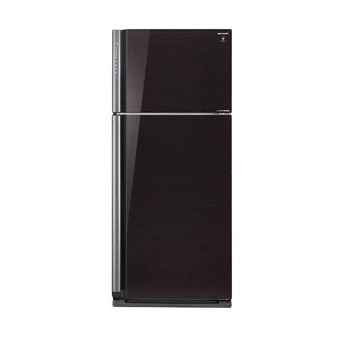 Lemari Es Sharp Sj F90pg Bk jual sharp sj ip861nlv bk hitam lemari es 2 pintu ion plasmacluster harga kualitas