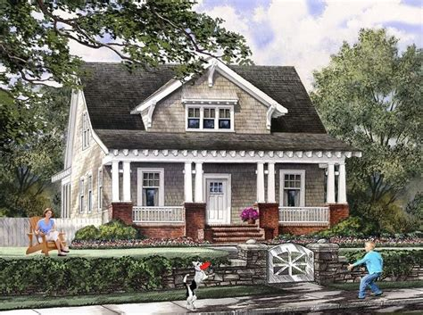 Cottage Craftsman House Plans | bungalow cottage craftsman farmhouse house plan 86121