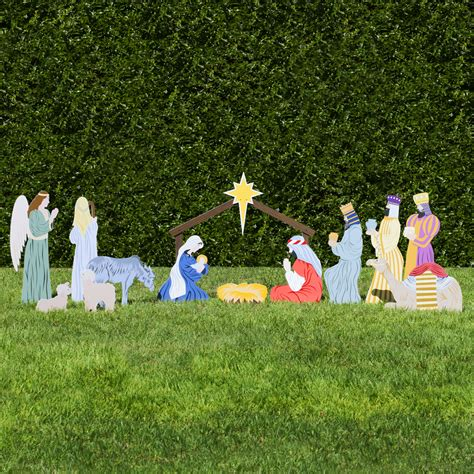 full scene classic nativity set outdoor nativity store