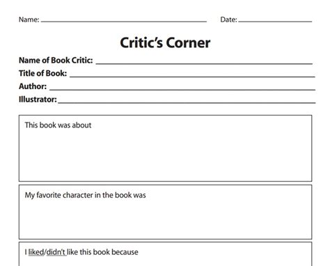book review template for book review template from http www scholastic