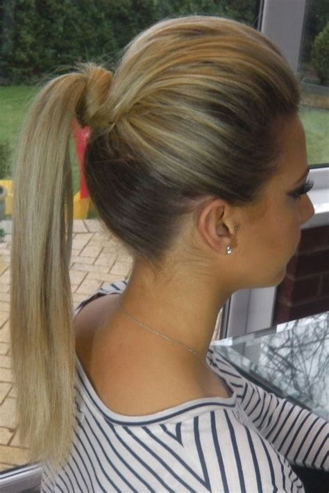 long hairstyles with volume poof on top how to do the high volume ponytail pretty and polished