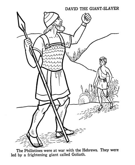 david and goliath coloring pages for toddlers david and goliath coloring page church sunday school