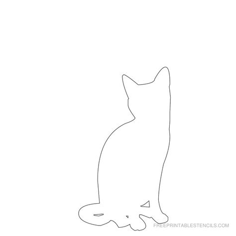printable cat stencil designs free printable stencils