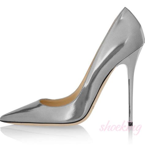 silver metallic high heel shoes anouk metallic leather silver pumps 20122502 134 00