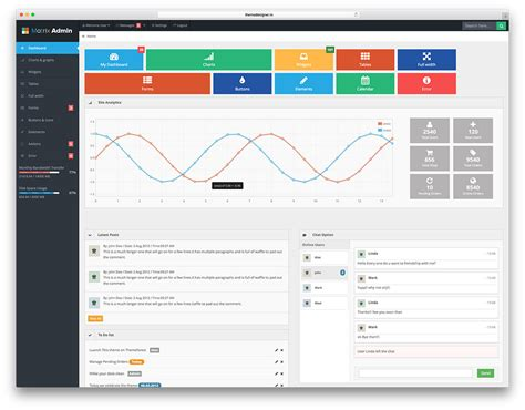 20 Free Bootstrap Admin Dashboard Templates 2018 Colorlib Bootstrap Web Application Template Free