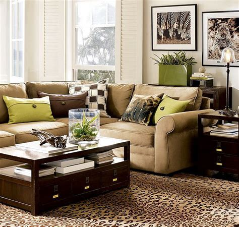 living room interior with brown 28 green and brown decoration ideas