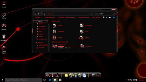 themes for windows 10 laptop free download alienware red theme for win10 skin pack customize your