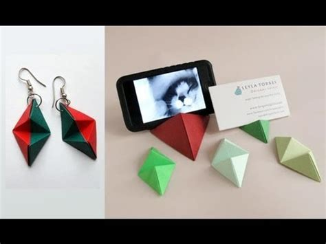 Origami Business - origami pyramid business card stand base para