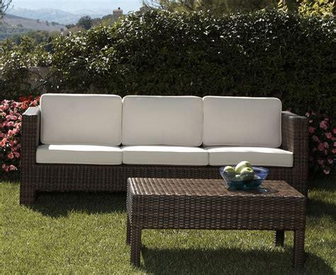 divano rattan sintetico divano 3p per esterno in rattan sintetico ecorattan