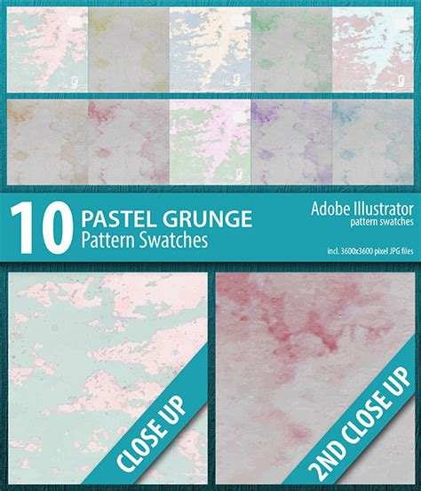 pastel pattern illustrator 10 pastel grunge texture pattern swatches by