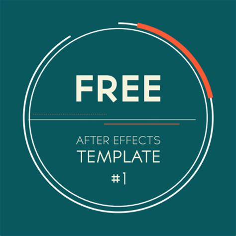free after effects template 1 2d logo introduction