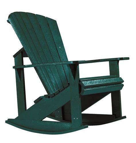 green adirondack chairs generations green adirondack rocking chair from cr plastic