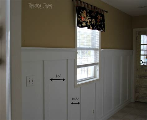 Wainscoting Spacing by Diy Board And Batten Tempting Thyme