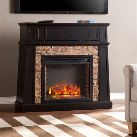 44 25 quot crestwick faux electric media fireplace