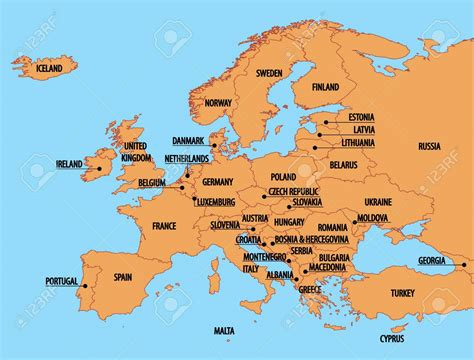 europe map with country names europe map with country names travel maps and major