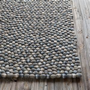 Wool Pebble Rug Stone Balls Grey Area Rug Wayfair